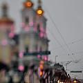 Tram On The  Street 2 by Zoriy Fine