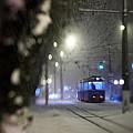 Tram On The  Street 3 by Zoriy Fine