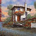 Tramonto Sul Lago by Guido Borelli