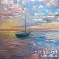 Tranquil Ocean Sunset by Liz Snyder