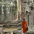Tranquility In Angkor Wat Cambodia by Bob Christopher