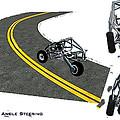 Transformer Transporter Motorcycle Turn by Chris  Morton