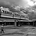 Transportation Station In Black And White Walt Disney World by Thomas Woolworth
