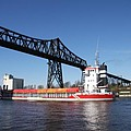 Transporter Bridge Over Canal Rendsburg by Christiane Schulze Art And Photography