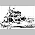 Trawler Yacht by Jack Pumphrey
