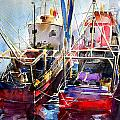 Trawlers In Early Light by Noel Manning