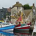 Trawlers In Honfleur by Barbie Corbett-Newmin