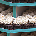 Trays Of Cupcakes Closeup by Jit Lim
