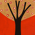Tree In Orange by Laura Nugent