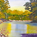 Tree Lined River by Pamela  Meredith