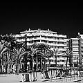 Tree Lined Seafront Promenade And Beach Salou Catalonia Spain by Joe Fox