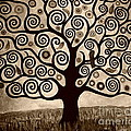 Tree Of Life In Sepia by Samantha Black