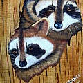 Tree Raccoons by Debbie LaFrance