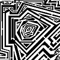Tree Rings Abstraction Maze  by Yonatan Frimer Maze Artist