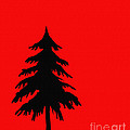 Tree Silhouette On A Red Background 2 by Barbara Griffin