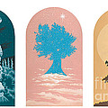 Tree Triptych For Rivera Funeral Home 220 by William Hart McNichols