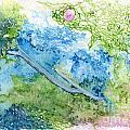 Tree With Rose by Ingela Christina Rahm