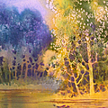 Trees And Water by Teresa Ascone