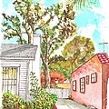 Trees Between Two Houses In West Hollywood - California by Carlos G Groppa