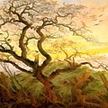 Trees Of Crows by Caspar David Friedrich