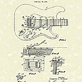 Tremolo Device 1956 Patent Art by Prior Art Design