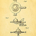 Tremulis Spaceship Hood Ornament Patent Art 1951 by Ian Monk