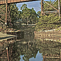 Trestle Over Reflecting Water by SC Heffner