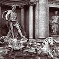 Trevi Fountain Detail by Liz Leyden