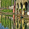 Treviso Canal And Reflections by Greg Matchick