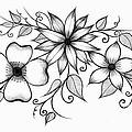 Tri-floral Sketch by Alina Davis