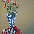 Triangle Flower Pot by Artist Nandika  Dutt