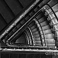 Triangle Staircaise In Bw by Jaroslaw Blaminsky