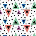 Triangular Dance Repeat Print by MGL Meiklejohn Graphics Licensing