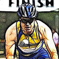Triathalon Competitor by Bob Christopher