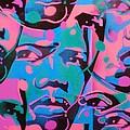 Tribal Graffiti Faces by Leon Keay