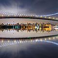 Triboro Bridge Panorama At Night by Mihai Andritoiu
