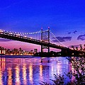 Triborough Bridge At Night by Monica Zorrilla