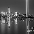 Tribute In Light Reflections Bw by Michael Ver Sprill