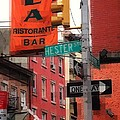 Tribute To Little Italy - Hester And Mulberry Sts - N Y by Miriam Danar