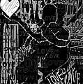 Tribute To Love In Black by Pharris Art