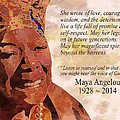 Tribute To Maya Angelou by The Art Of JudiLynn