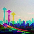 Tricolor Seattle Space Needle by Eddie G
