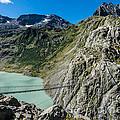 Triftsee Suspension Bridge - Gadmen - Switzerland by Gary Whitton