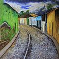 Trinidad Cuba Original Oil Painting 16x12in by Manuel Lopez