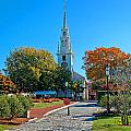 Trinity Church In Queen Anne Square In Newport by Mitchell R Grosky