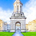 Trinity College Campanille - Dublin Ireland by Mark Tisdale