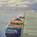 Trinity Long Line Fishing Trawler At San Remo  by Pamela  Meredith
