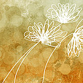 Trio Abstract Flower Art  by Ann Powell