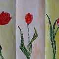 Trio Of  Red Tulips by Sonali Gangane
