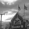 Triple Crown Diner In Black And White by Rob Hans